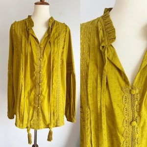 SHOW ME YOUR MUMU Chartreuse Alicia Tunic RARE